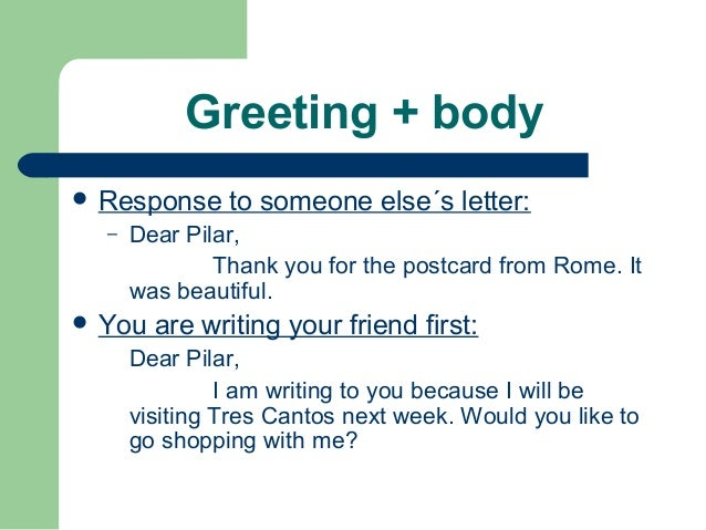 How to write a friendly letter 2012
