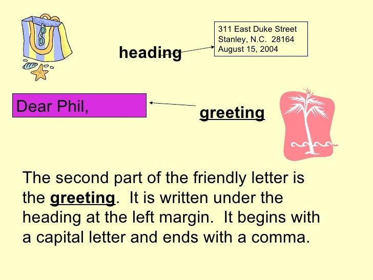 How To Write A Friendly Letter Barbara Cloninger And Vanda