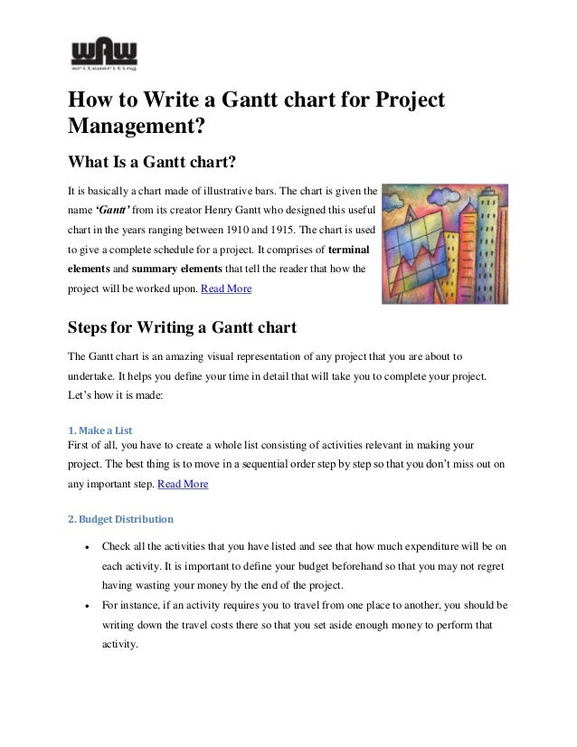How to write a Gantt Chart for Project Management Slide 2