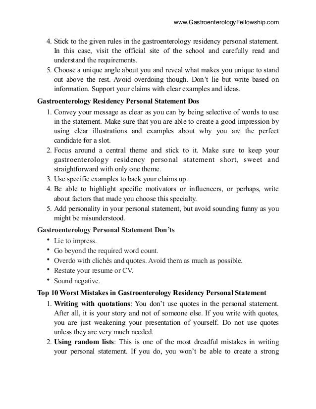 writing a personal statement for residency application These sample family medicine residency personal statements are here for your viewing pleasure (fully anonymous)we're hoping to add more in the future, including pre-med personal statements.