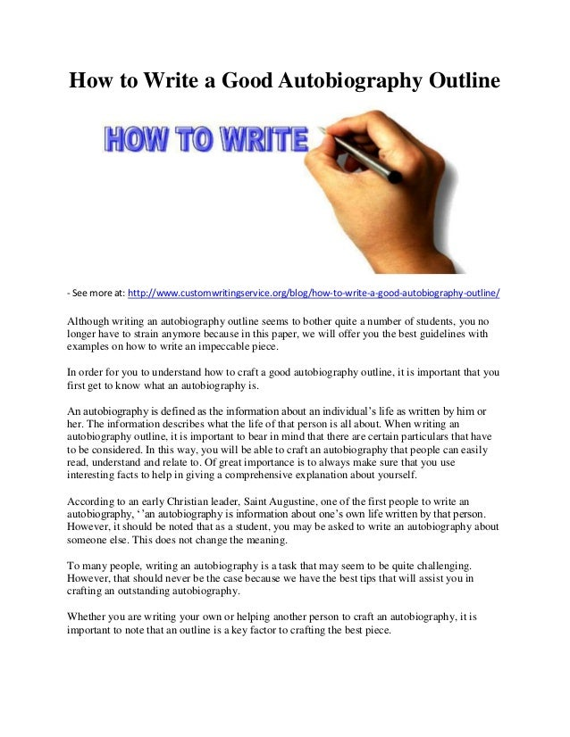 how to write a good biography