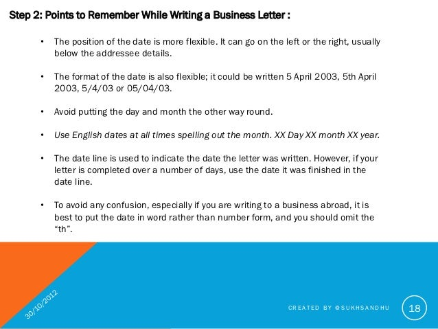 How to write a good business letter created by sukhsandhu 18 18 date format in british spiritdancerdesigns Choice Image