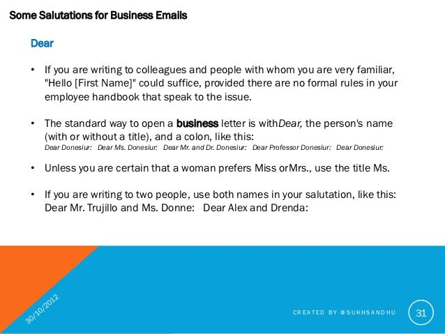 how to write a business letter to a professor