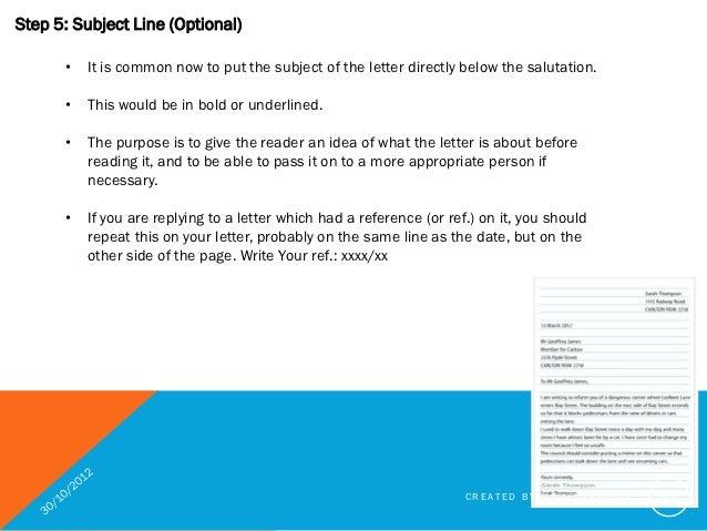 Subject Line In Business Letter from image.slidesharecdn.com