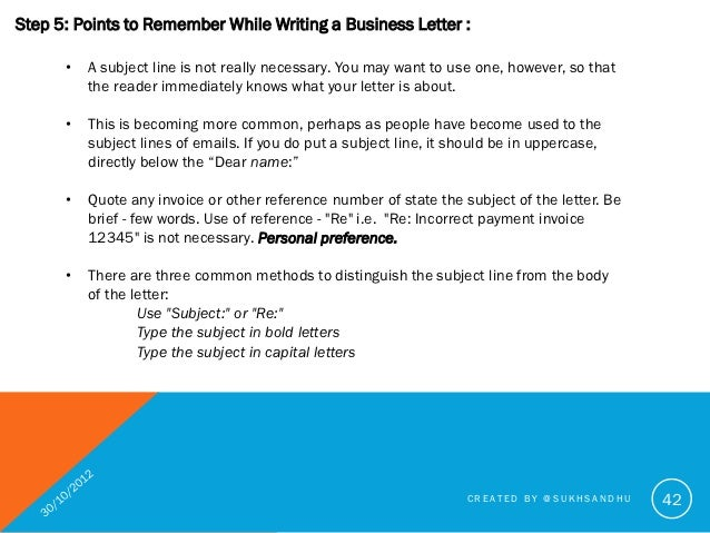 How to write a good business letter subject in capital letters created by sukhsandhu 42 42 expocarfo Gallery