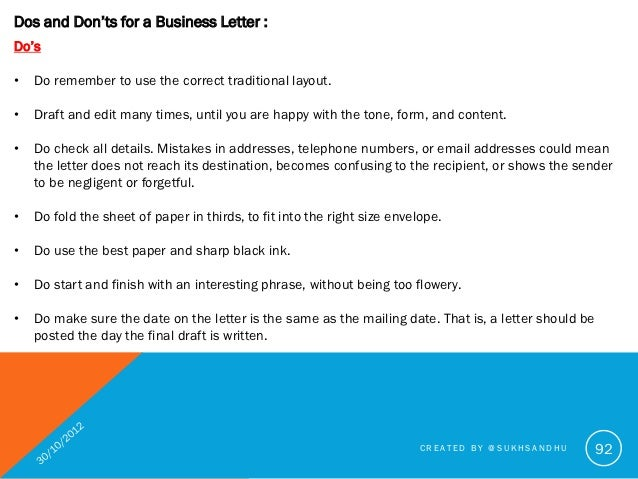 An Example of a Business Letter in 4 Situations