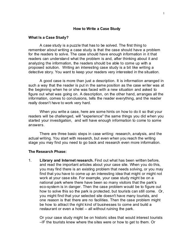 case study report format example