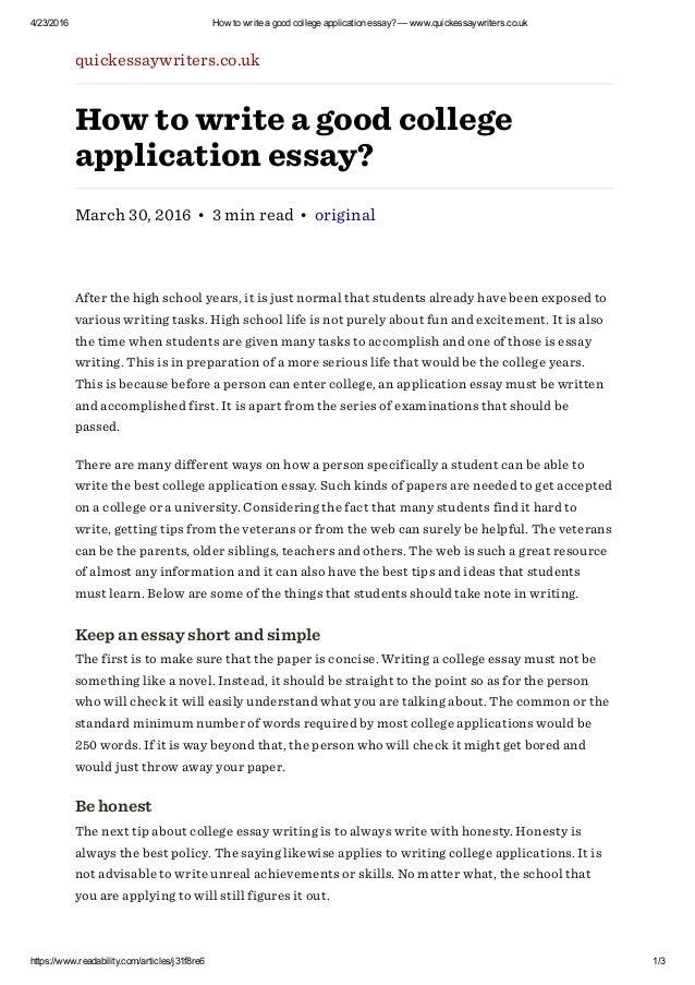 Writing college admission essay zuckerberg