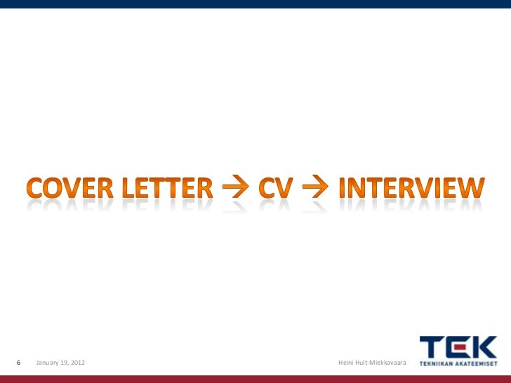 How to write a good CV and cover letter