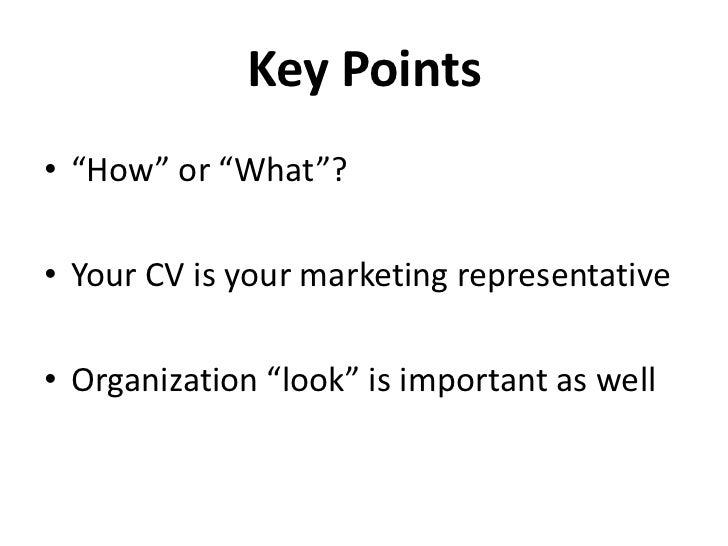 How to write a good CV Slide 2
