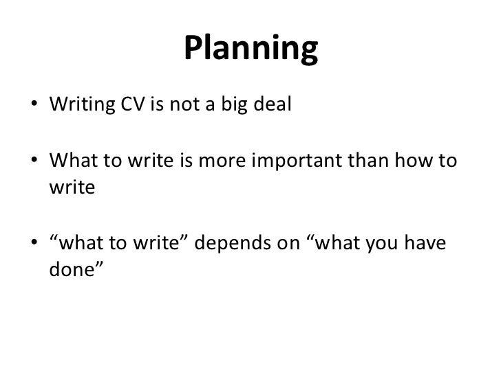 How to write a good CV Slide 3