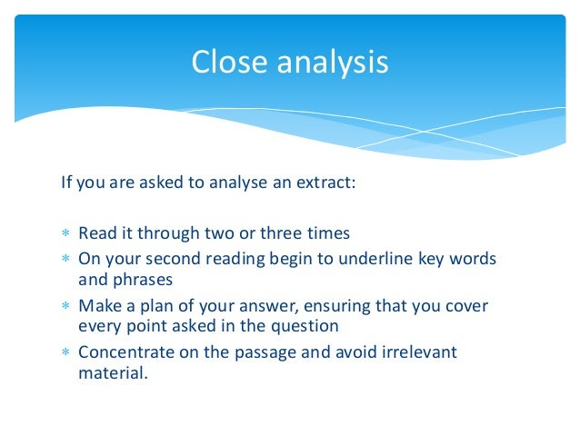 Analysis of Reading Strategies