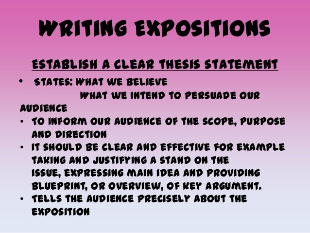 thesis statement in an expository essay examples