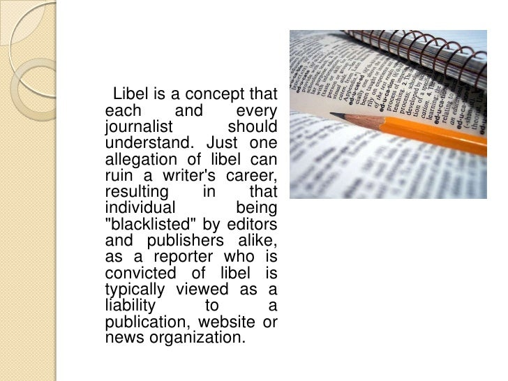 Notably, libel is oftenconfused with slander.Its    important       tounderstand             thedifference      betweensla...