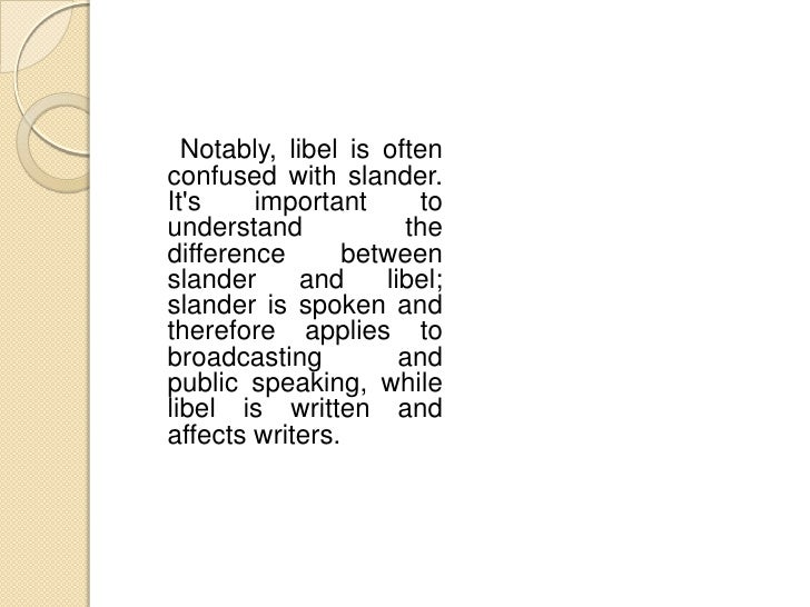 Where is Libel Found?   According to The          An example of this Associated        Press    would      involve      a ...