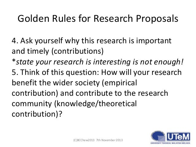 how to write research proposal master