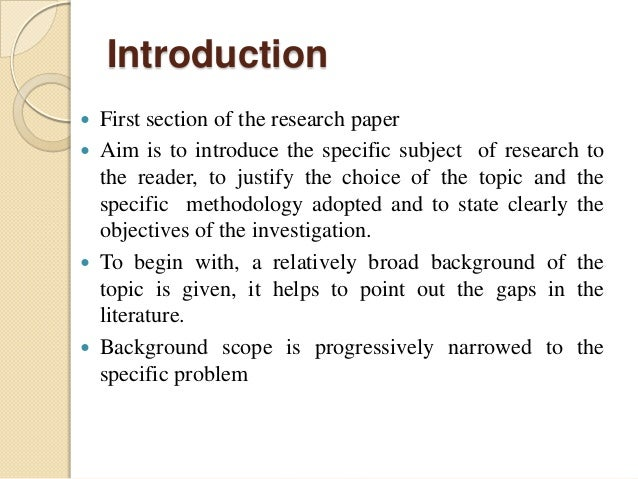 how to write an introduction in a research paper