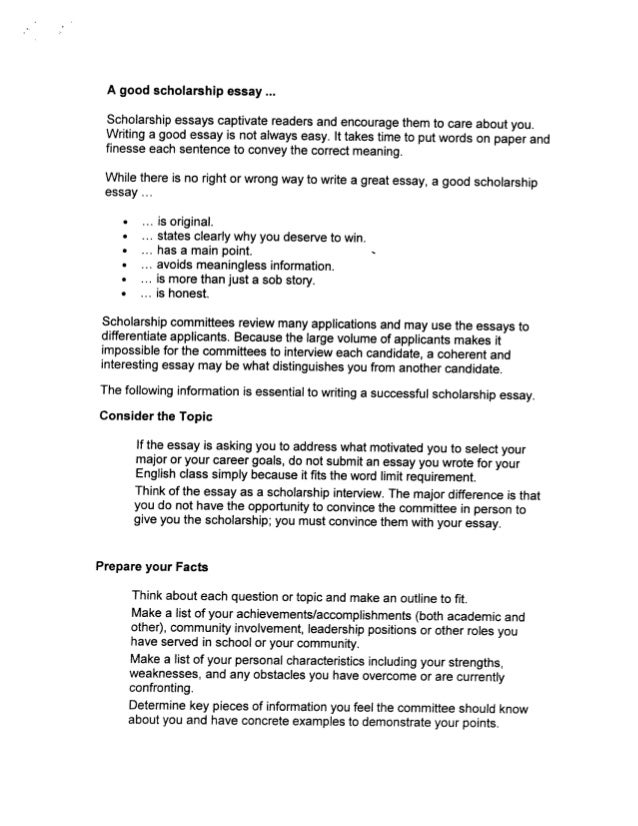 essay for applying scholarship Chapter 5: personal statements and application essays for national scholarships chapter 4: sample personal statements and application essays chapter 5.