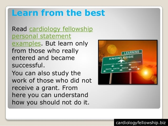 How to Write a Great Cardiology Personal Statement