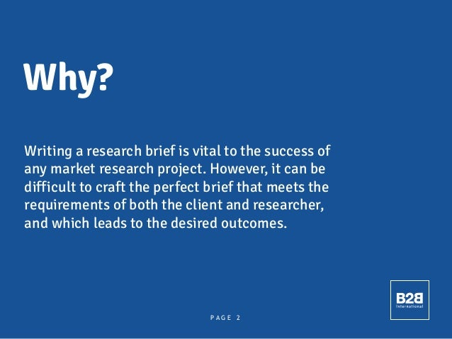 How To Write A Great Research Brief Slide 2