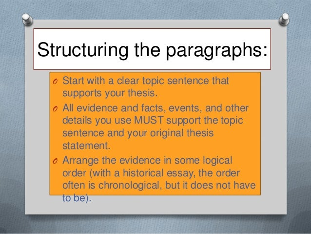 how to write a historical essay The purpose of this guide is to provide you with the basics for writing undergraduate history essays and papers it is a guide only, and its step by step approach is only one possible model it does not replace consultation with your professor, ta, or instructor about writing questions and getting feedback, nor the excellent.