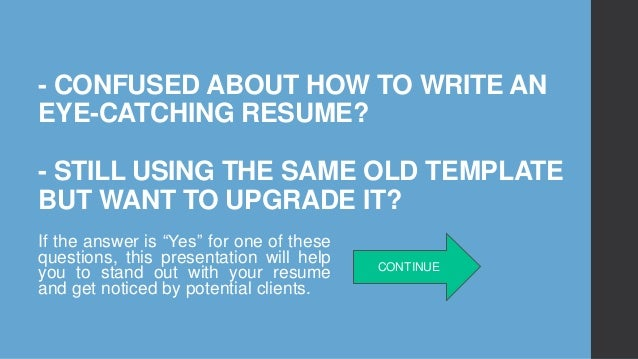 how to write a job