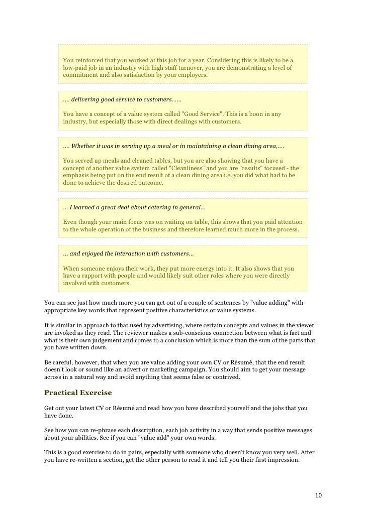how to write cv resume