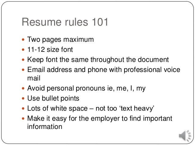 Resume ...  How To Write A Killer Resume