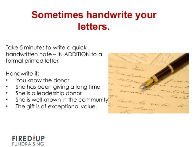 How To Write A Letter When Making A Donation