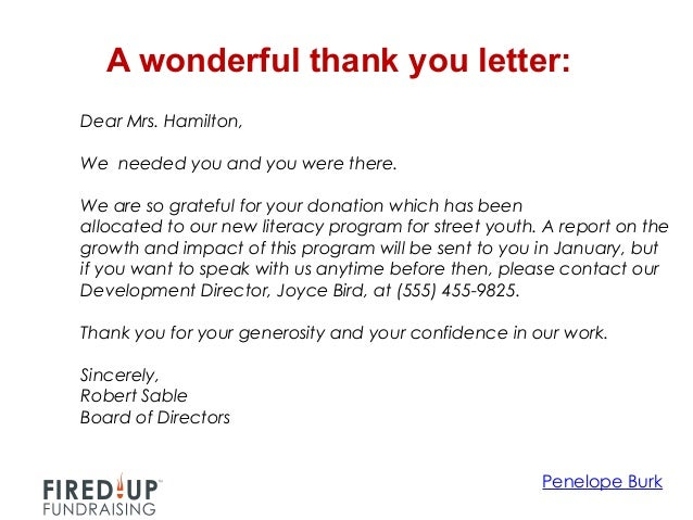 Marvelous Thank You Letter Donation