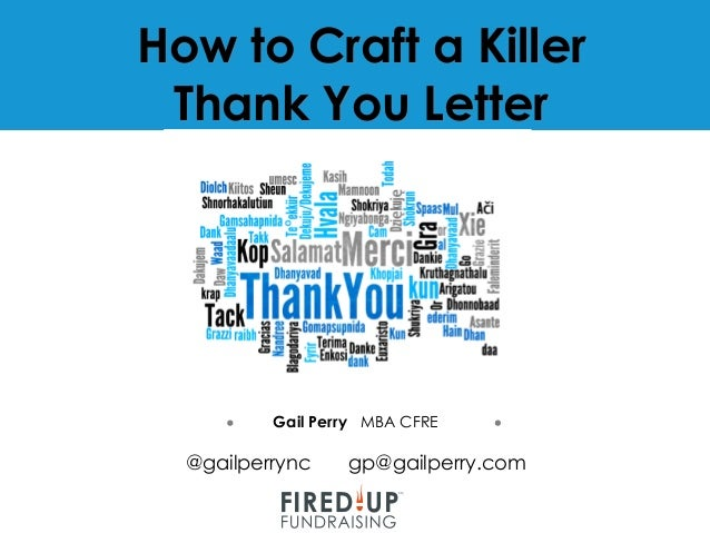 How to write a killer thank you letter 5 how to craft a killer thank you letter expocarfo Image collections