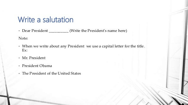 sample letter to the president trump