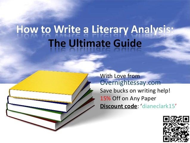 Help writing literary analysis paper