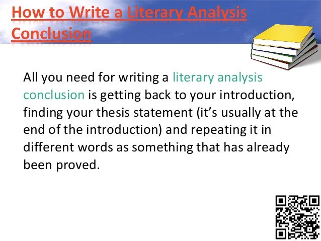 writing a literary analysis
