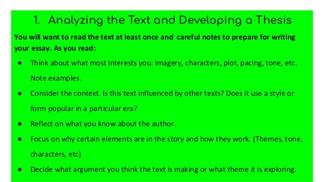 How to write a literary paper Slide 3
