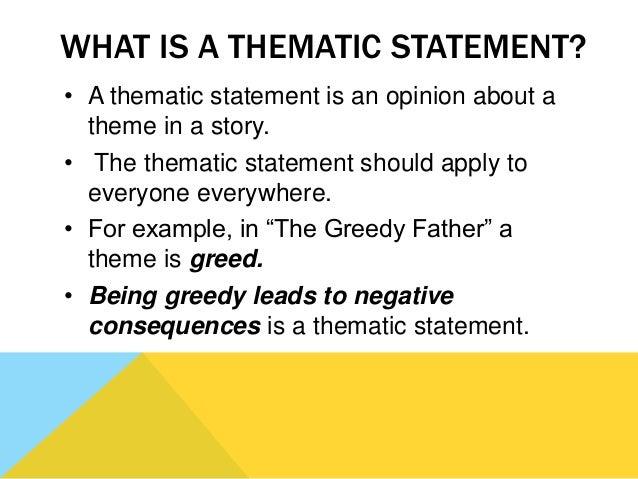 greed theme statements