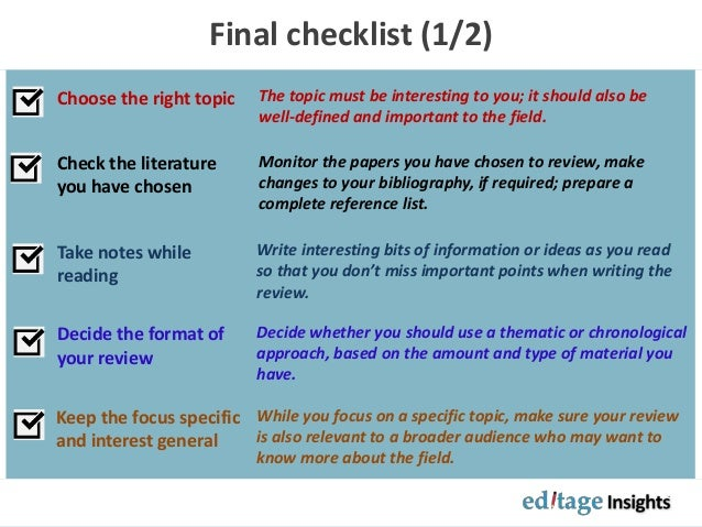 how to approach a literature review