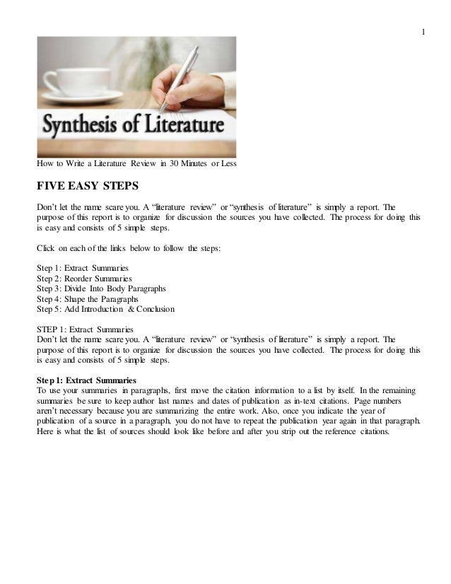 literature review and discussion