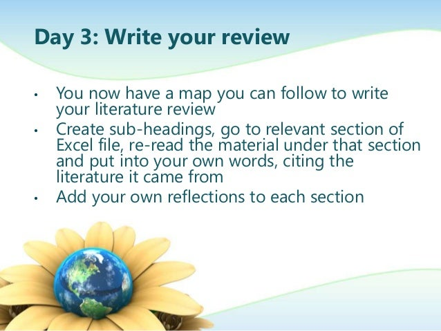 Write literature review essay