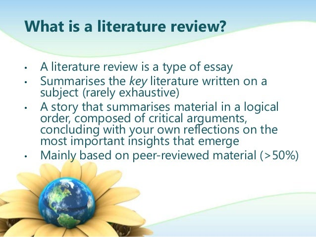 define literature review dissertation What is a literature review  of a literature review may be divided into four steps: define your subject and the scope of the review search the library.