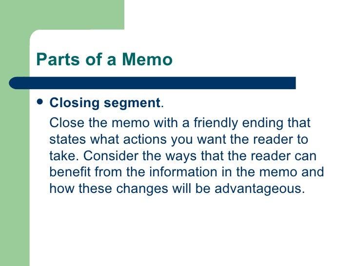 how to close a memo