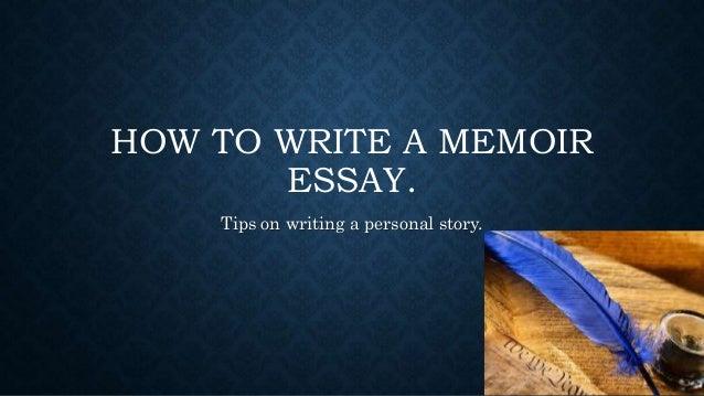 Write a memoir online