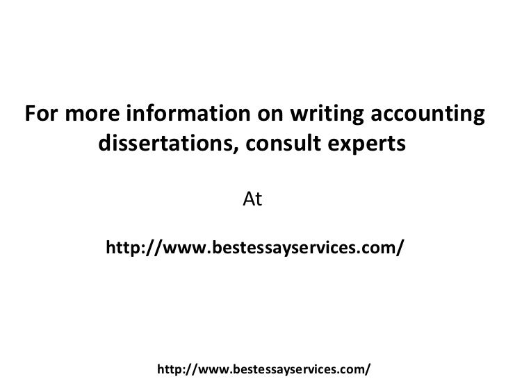 How to write an a+ accounting dissertation