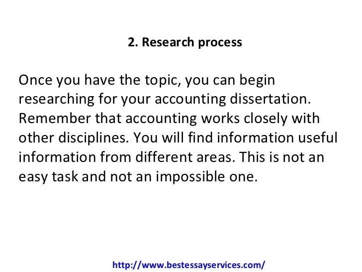 Accounting dissertation topics