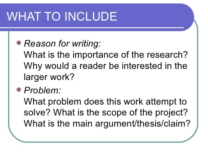 how to write an abstract for an eei