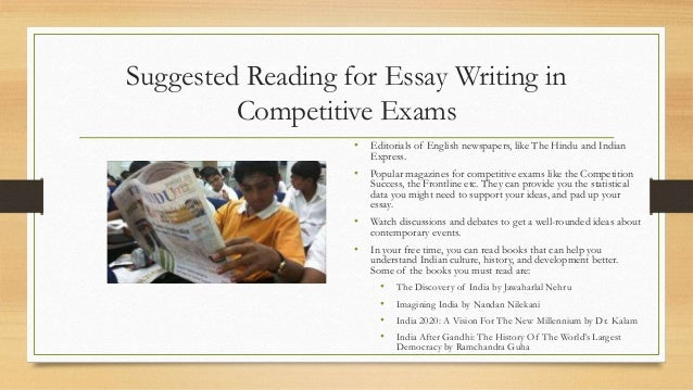 essays for competitive exams in india Personal leadership statement short essay on sometimes war is necessary science nonfiction book reports causes and effects of globalization essay yale phd thesis steps to writing a compare and contrast essay online dissertations and theses commonsmcmaster how to use apa format when writing a paper.