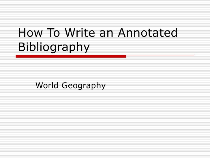 How to write a geography paper