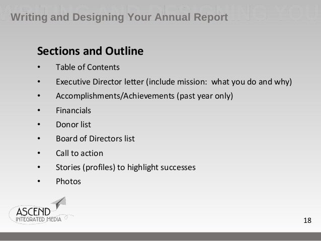 how to write an annual report example