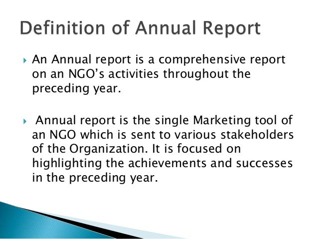 writing an annual report Learn how to write a well-constructed business report in this course, author and senior kelley school of business lecturer judy steiner-williams outlines the different types of business reports.