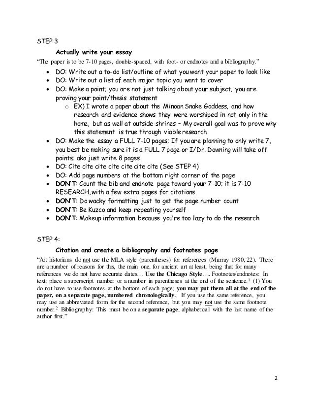 art history research paper guidelines